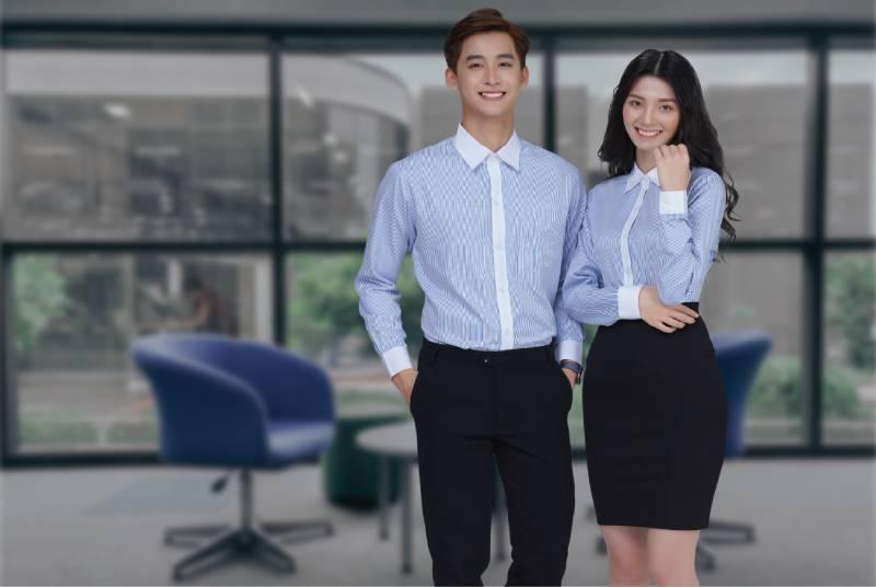 Lựa chọn chất liệu và màu sắc cho áo đồng phục công sở mang sự đồng bộ và chuyên nghiệp
