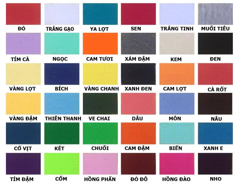 Bảng màu áo sơ mi đồng phục công ty phù hợp và cạnh tranh nhất