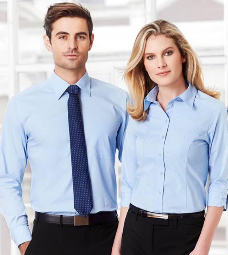 Địa chỉ may áo sơ mi đồng phục công sở nữ chuyên nghiệp, đơn giản, thanh lịch
