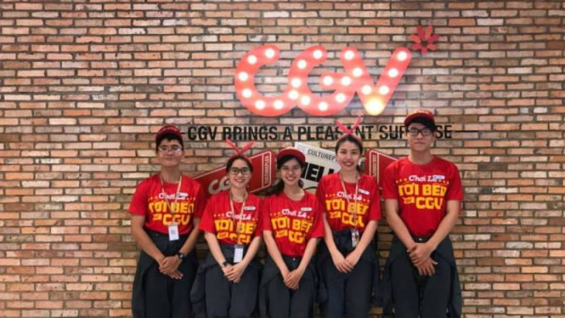 Đồng phục CGV - đồng phục công ty đẹp, ấn tượng