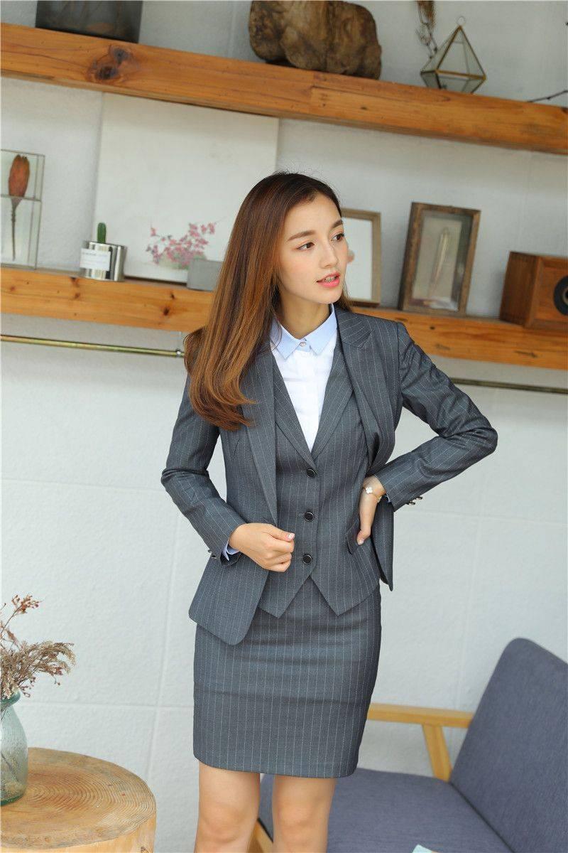 Áo vest đồng phục công sở, thời trang đẳng cấp cho nhân viên