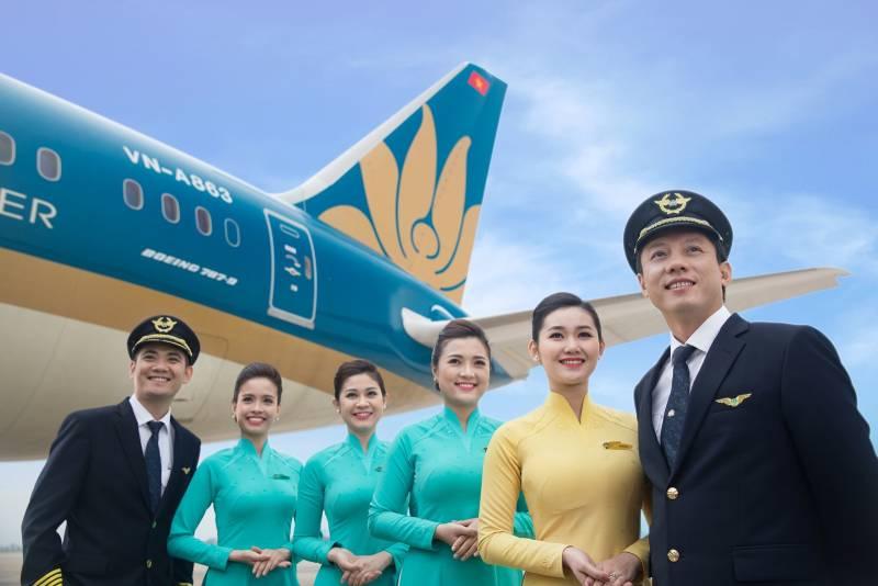 Vietnam Airline - thương hiệu hàng không quốc gia với mẫu áo đồng phục duyên dáng