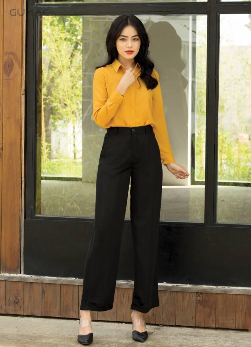 """Quần tây nữ ống suông đồng phục công ty mang lại sự thoải mái, đặc biệt không """"kén"""" người mặc"""