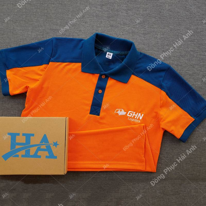 Các mẫu áo thun đồng phục công ty được may tại Hải Anh đều được đánh giá cao về kiểu dáng và màu sắc