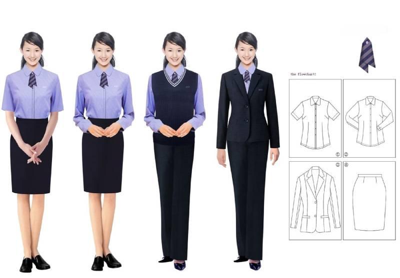 Cách mix vest đồng phục công sở nữ với chân váy, quầy âu...