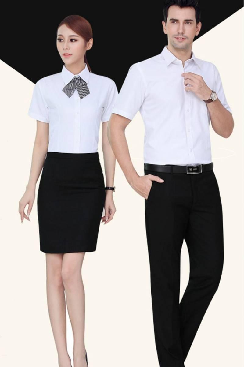 Áo sơ mi đồng phục công sở ngắn tay tạo cảm giác mát mẻ, thoải mái và năng động