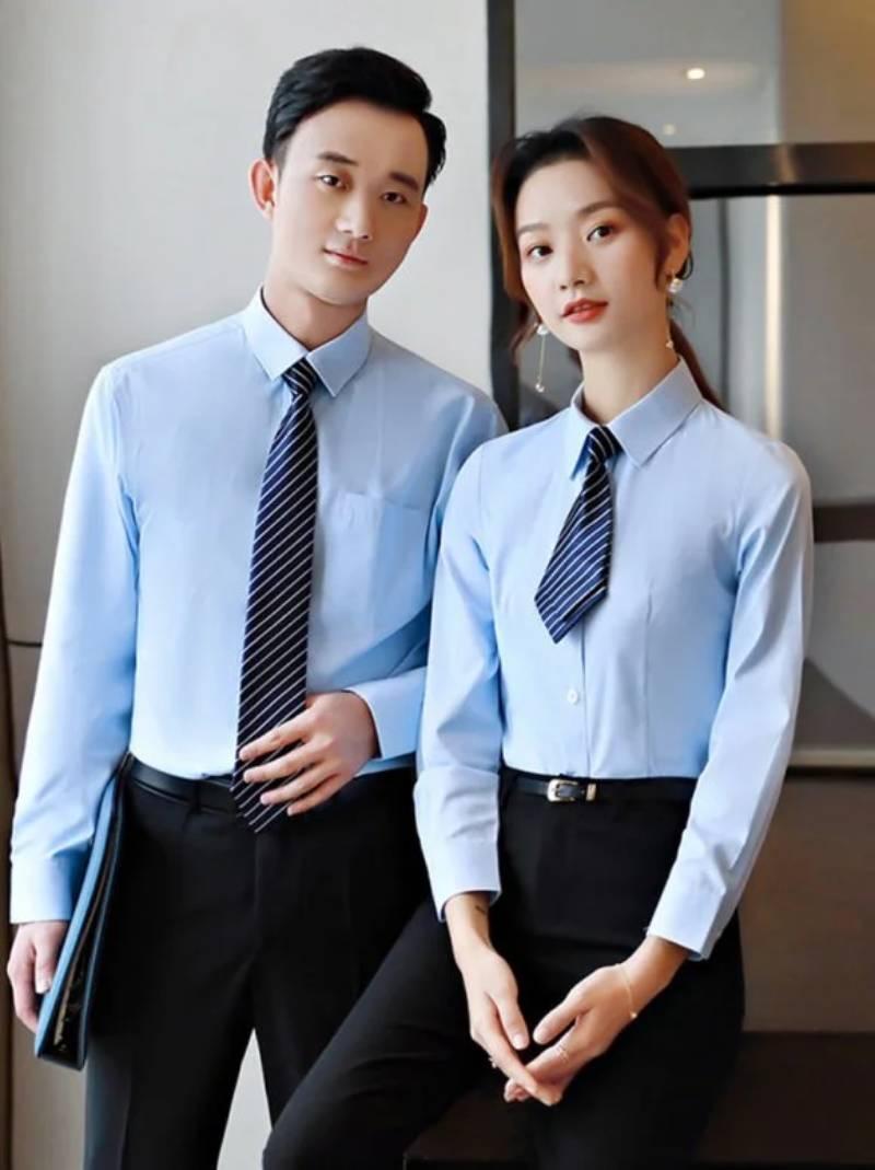 Áo sơ mi đồng phục công sở mang phong cách trẻ trung, thanh lịch