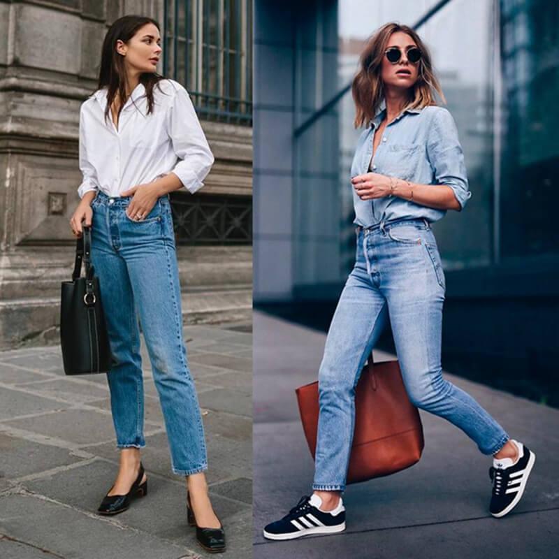 Cách phối đồ áo sơ mi nữ cùng quần jeans giúp bạn có phong cách trẻ trung, không lo lỗi mốt
