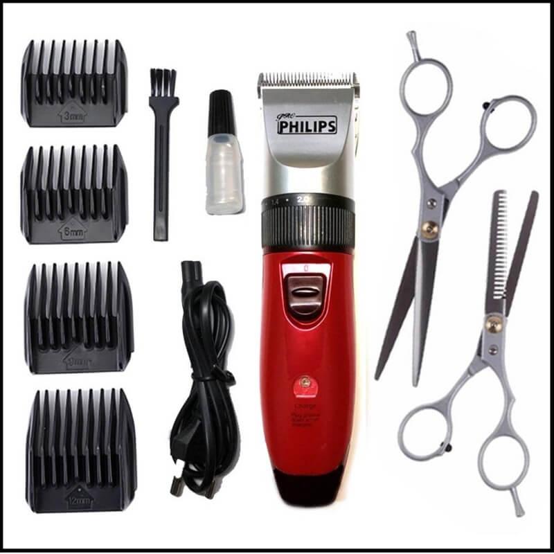 Kéo, tông đơ, lược và kẹp là những dụng cụ không thể thiếu khi tự cắt tóc nam tại nhà