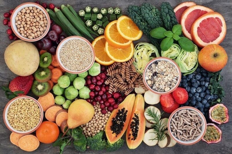 Sử dụng các thực phẩm tươi sống trong quá trình ăn heathy của mình