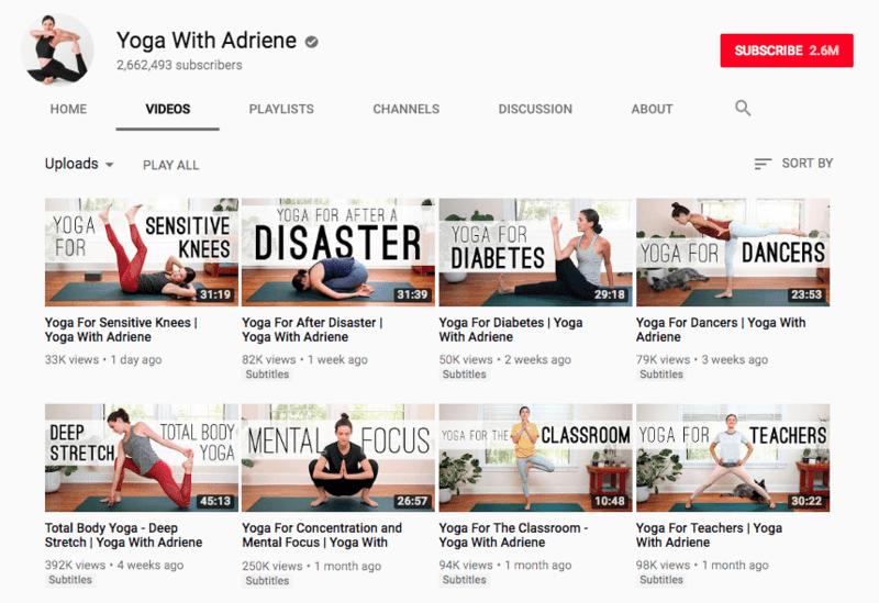 Là một trong những kênh youtube nước ngoài được nhiều người Việt yêu thích, Yoga With Adriene là một gợi ý hay giúp bạn tự tập yoga tại nhà