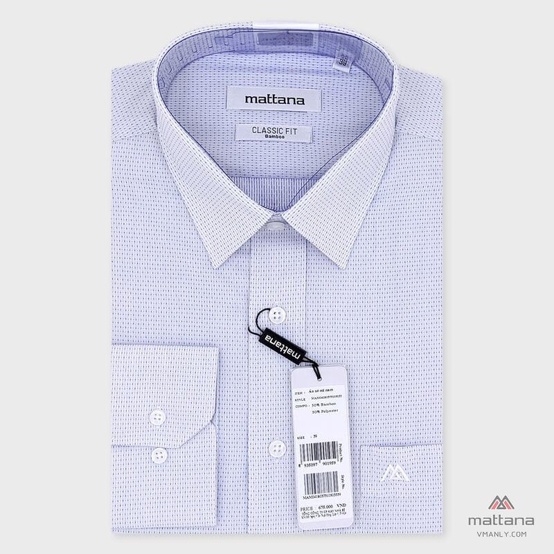 Các mẫu áo sơ mi của Mattana có sự kết hợp hài hòa phong cách thiết kế châu Âu và Việt Nam