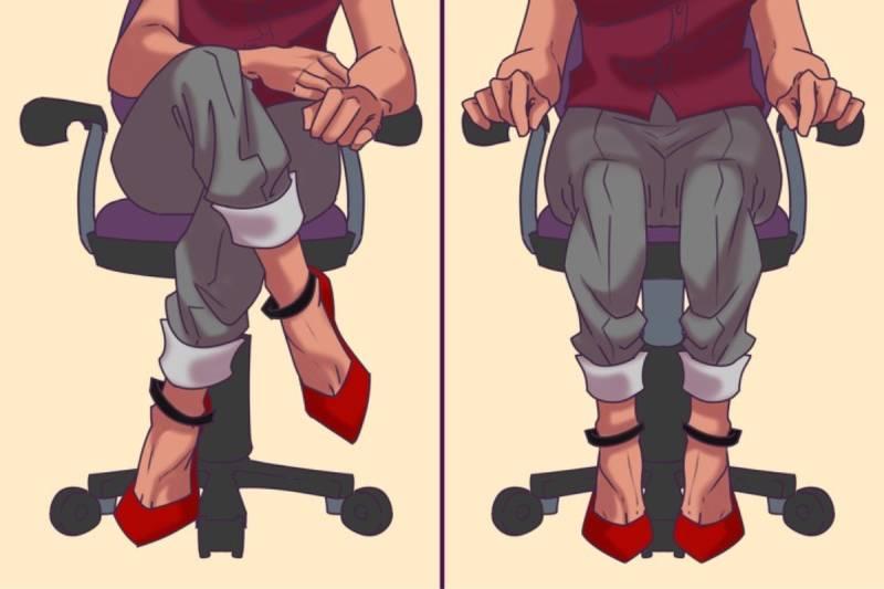 Hạn chế tư thế ngồi bắt chéo chân, nên để thẳng 2 chân 1 cách tự nhiên tạo sự thoải mái khi ngồi làm việc
