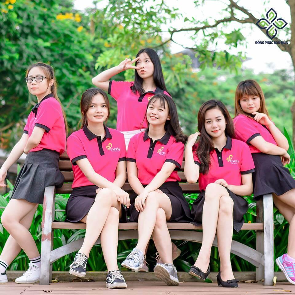 Đồng phục công ty màu hồng