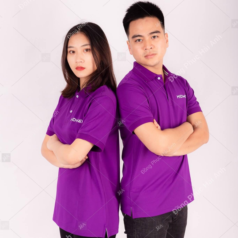 Đồng phục công ty màu tím