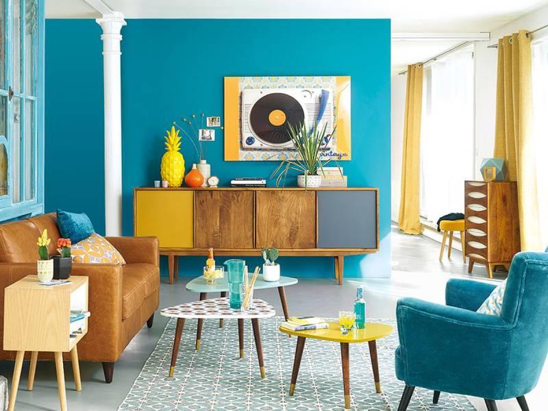 Thiết kế nội thất phong cách Retro tươi tắn, rực rỡ