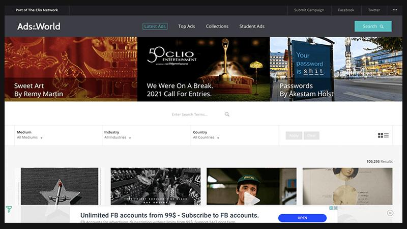 Ad of the world - trang web dành cho các nhà truyền thông marketing