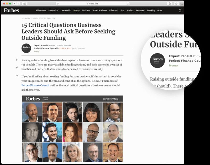 Forbes - website uy tín hàng đầu thế giới các marketer có thể tham khảo
