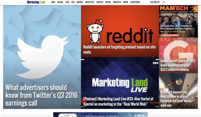 Marketing Land website chuyên sâu về mảng digital marketing